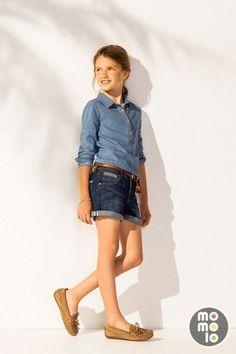 www.momolo.com #momolo #modainfantil #fashionkids  #childrensfashion #denim Look de Massimo Dutti | MOMOLO Street Style Kids :: La primera red social de Moda Infantil