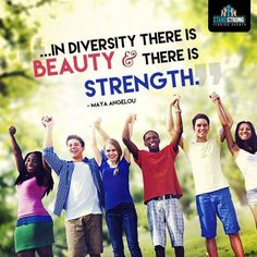 We all have one thing in common—diversity! Let's celebrate and embrace each other's differences.