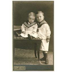 CUTE LITTLE BOYS sailor suits CDV PHOTO 1908