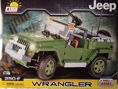 Cobi-WW-II-Small-Army-US-Military-Vehicle-Jeep-Wrangler-Scale-1-18-Toy-Bricks