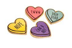 pasadores de corazón de caramelo dulce amargo / cuatro colores a elegir