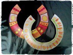 bricolage afrique, collier africain, assiette en carton, enfant