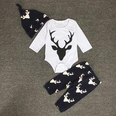 $8.24 (Buy here: https://alitems.com/g/1e8d114494ebda23ff8b16525dc3e8/?i=5&ulp=https%3A%2F%2Fwww.aliexpress.com%2Fitem%2F2017-bebes-kids-Brand-Romper-Set-Fashion-boy-Roupa-De-Bebe-Bodysuit-Hat-Pant-3pcs-Baby%2F32787852988.html ) 2017 bebes kids Brand Romper Set Fashion boy Roupa De Bebe Bodysuit+Hat+Pant 3pcs Baby Boy Clothing Set Newborn Baby Clothes for just $8.24