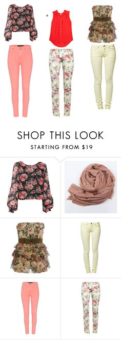 """""""three floral styles for everyday life"""" by ry-in-wonderland ❤ liked on Polyvore featuring ONLY, River Island, Balmain and Joie"""