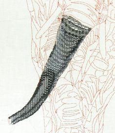 Blackwork Elephant: Advanced Blackwork Hand Embroidery Technique