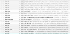 A quick snapshot of how BuzzFeed's email subject lines keep me clicking every. single. damn. time.   Well played Buzzfeed, you're pretty amazing.