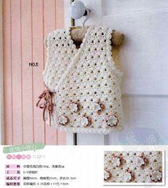 crochet fashion for girls with triangles crochet patterns Beau Crochet, Pull Crochet, Crochet Coat, Crochet Baby, Bolero Crochet, Lace Bolero, Crochet Toddler, Crochet Girls, Newborn Crochet