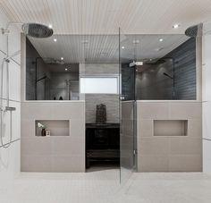 Laundry Room Bathroom, Bathroom Toilets, Bathroom Inspo, Bathroom Inspiration, Sauna Shower, Sauna Design, Sauna Room, Home Spa, Interior Design Living Room
