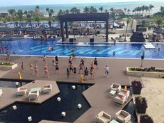 NRG2GO class poolside at Royalton Riviera Cancun