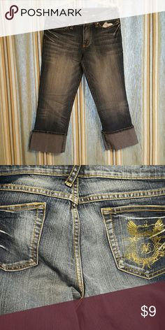 Fabulosity Jean Capris Dark wash Below the knee Capri's 75%cotton/23% polyester Fabulosity Jeans Ankle & Cropped