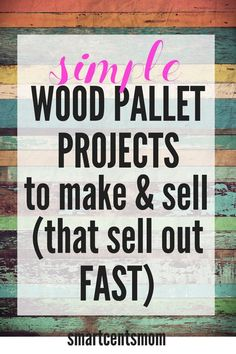 Easy DIY things to make and sell out of wood! Easy DIY things to make and sell out of wood! These wood signs are popular crafts to sell on handmade sites like Etsy! Check out these popular wood pallet projects and start earning extra cash today! Wood Projects That Sell, Woodworking Projects That Sell, Diy Pallet Projects, Kids Woodworking, Woodworking Furniture, Pallet Diy Easy, Popular Woodworking, Woodworking Techniques, Easy Diy Projects