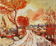 André Derain (France 1880-1954) Paysage de neige à chatou