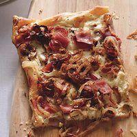 Ham, onion, ricotta tart