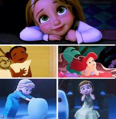Baby Disney Princesses--SO ADORABLE---where's merida she's my favorite baby