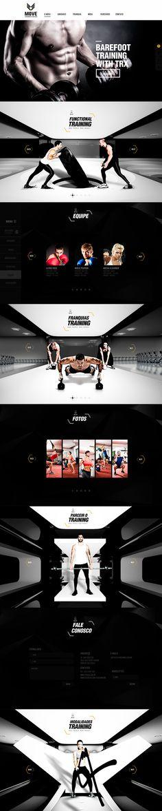 "Website for ""MOVE"" ct of athletes training level auto franchise."