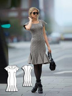 Sheath Dress with Godets Burda Nov 2014 #108C Pattern $5.99: http://www.burdastyle.com/pattern_store/patterns/sheath-dress-with-godets-112014