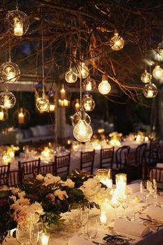 love the idea of string lights but with big lightbulbs like this..