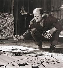 Jackson Pollock painting.