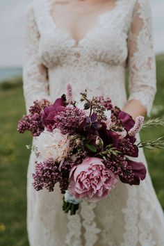 Spring brides, pick a wedding bouquet packed with seasonal lilac. Known for their signature color and fragrance, these pretty flowers are perfect for your bridal flowers. Lilac Bouquet, Peony Bouquet Wedding, Peonies Bouquet, Bride Bouquets, Bridal Flowers, Flower Bouquets, Purple Bouquets, Purple Peonies, Yellow Roses