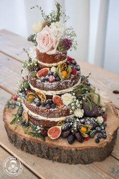 Image result for naked wedding cake wood