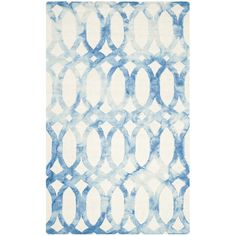 Found it at AllModern - Dip Dye Ivory & Blue Area Rug