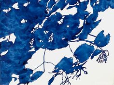 Royal Blue Leaves by Boston artist Alexandra Sheldon. Love Blue, Blue And White, Cape Cod Collegiate, Wallpaper Headboard, Nautical Design, Blue Leaves, Illustrations, Love Art, Drawing S
