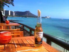 diamond head Waikiki Beach, Corona Beer, Hot Sauce Bottles, Beer Bottle, Diamond, Drinks, Drinking, Beverages, Diamonds