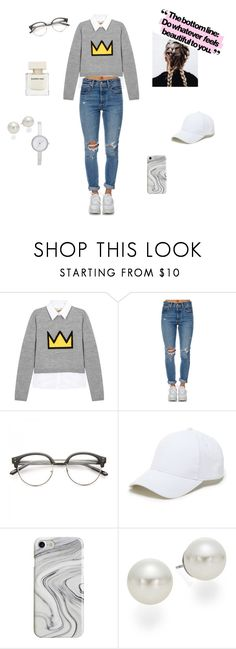 """Nerd style."" by joanaaguas2002 on Polyvore featuring Alice + Olivia, Levi's, Sole Society, Recover, AK Anne Klein, DKNY, nerd and beautiful"