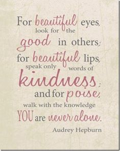 Love Quotes For Her : QUOTATION - Image : Quotes Of the day - Description audrey hepburn quotes pink Love Quotes For Her, Great Quotes, Quotes To Live By, Inspirational Quotes, Motivational Board, Uplifting Quotes, The Words, Cool Words, Quotes Pink
