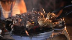 Caribbean Rum-drunk barbecued chicken by Ainsley Harriott via SBS Food Meat Recipes, Chicken Recipes, Drunken Chicken, Guyanese Recipes, Caribbean Recipes, Caribbean Rum, Sbs Food, Food Program, Barbecue Chicken