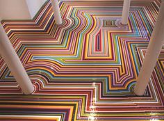 COLOR & SPACE #1: The psychedelic floor designs of Jim Lambie