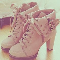 pale pink shoes would be perfect with a thinner heel