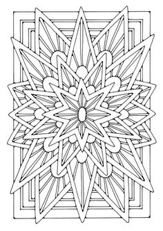 ☮ American Hippie Art ~ Coloring page mandala - star
