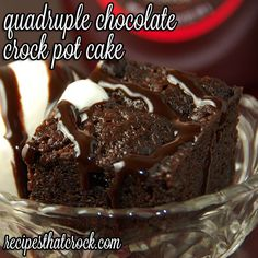 Do you love chocolate? Do you love a super easy recipe that is ah-mazing? Then you want to check out this Quadruple Chocolate Crock Pot Cake!