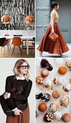 love this #fall or #winter color combo: persimmon & chocolate
