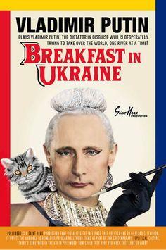 Saint Hoax plasmó a líderes mundiales en posters de películas con el objetivo de visualizar la influencia que la política tiene en los medios audiovisuales
