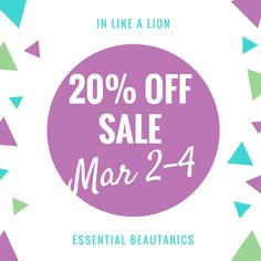 """Last day for my """"In Like a Lion"""" Sale! Get your much needed items, Easter gifts for the young adult, Easter lip balms for the Easter basket or pamper yourself and stock up on those skin care products you love."""