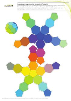Fußball Bastelbogen: Build the soccer ball (truncated icosahedron) with this pattern!