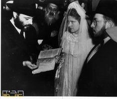 The Wedding of the Lubavitcher Rebbe, Rabbi Menachem Mendel Schneerson with righteous Rebbetzin Chaya Mushka the Previous the Rebbe's daughter. www.chabadindia770.com