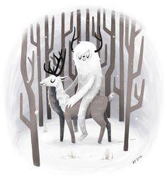 Winter Snow by Anna Johnstone, via Behance