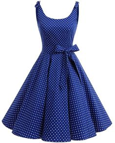 Featuring with a fitted bodice and a-line skirt, this vintage dress will be flattering on different body types. 1950s Party Dresses, Vintage Dresses, Vintage Outfits, Dress Party, Knee Length Dresses, Cheap Dresses, Swing Dress, Dress Brands, Dress Patterns