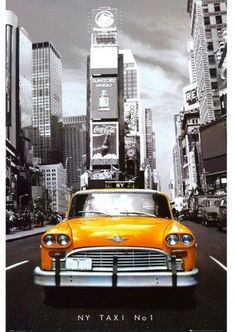 Travel posters are a huge decorating trend and this Art.com New York Taxi No. 1 Poster is an unexpected surprise for many people. This New York City poster features the famed yellow cabs of the city; in particular, taxi number one. The art print is a black and white image of the city with only the taxi appearing in color. Select this poster for your home or office and frame it yourself or get a framed poster and you've got a great bit of wall art that's ready to g