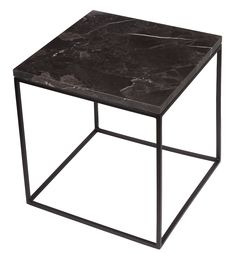 Stoned - Black Marble Side Table - Large x x