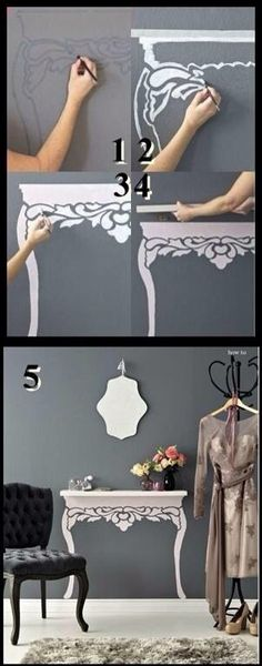 How cute!! I have 2 small walls this would work on!