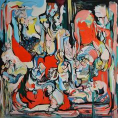 """Saatchi Art Artist DIANA ROIG; Painting, """"Something to talk about."""" #art"""