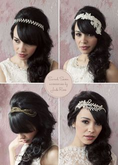 67 trendy wedding hairstyles with bangs headpieces head bands dresses vintage wedding bands ? Headband Hairstyles, Vintage Hairstyles, Hairstyles With Bangs, Wedding Hairstyles, Amy Winehouse, Wedding Hair And Makeup, Wedding Hair Accessories, Hair Wedding, Wedding Bands