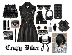 """Crazy Biker"" by carly3569 ❤ liked on Polyvore featuring RED Valentino, STELLA McCARTNEY, Yves Saint Laurent, Karl Lagerfeld, Black, Marc Jacobs, Givenchy, Sam Edelman, Christian Dior and Miss Selfridge"