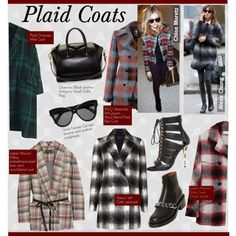 Plaid Coats by kusja on Polyvore featuring Theory, Isabel Marant, Étoile Isabel Marant, McQ by Alexander McQueen, Balmain, Givenchy, Linda Farrow, trend and plaidcoat