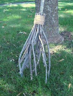 witch's broom out of yard waste. I could make this with all the waste in our yard :)