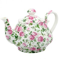 pink chintz teapot